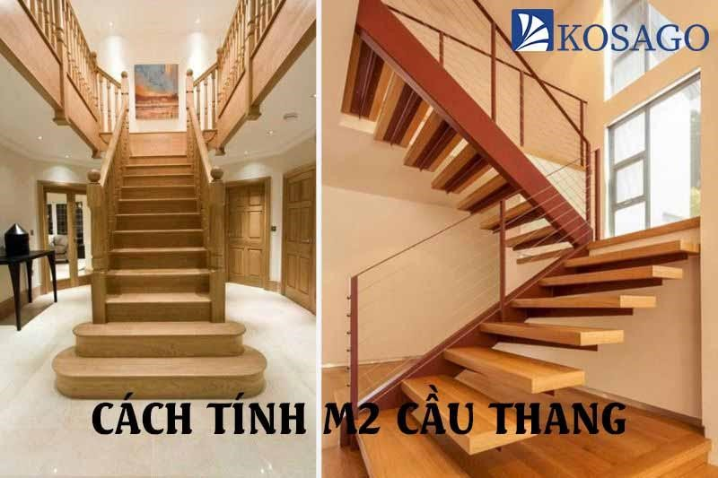 cách tính m2 cầu thang