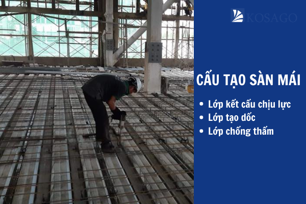 cấu tạo sàn mái gồm có 3 phần