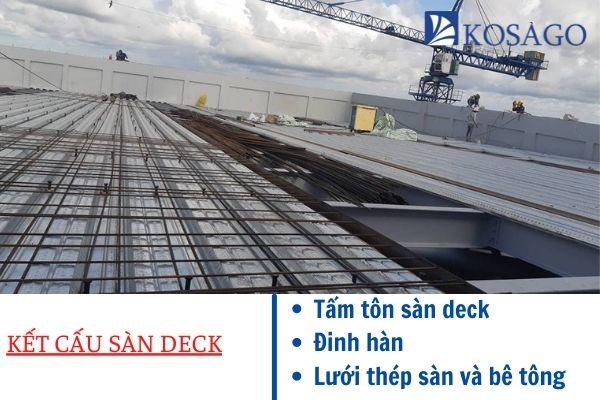 kết cấu của sàn deck