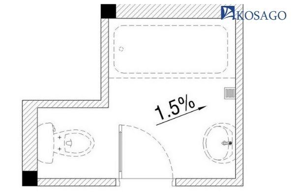lớp tạo dốc của sàn nhà vệ sinh