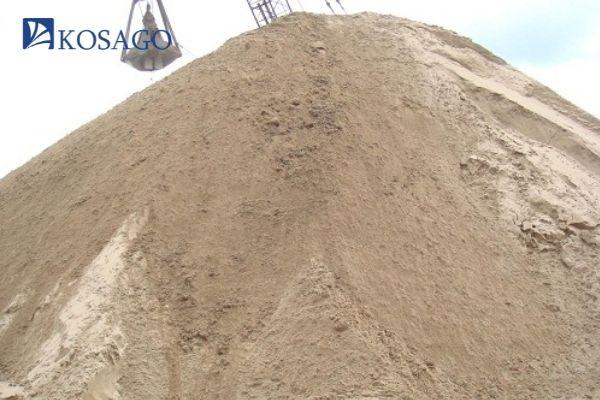 nguyên liệu chuẩn bị là cát