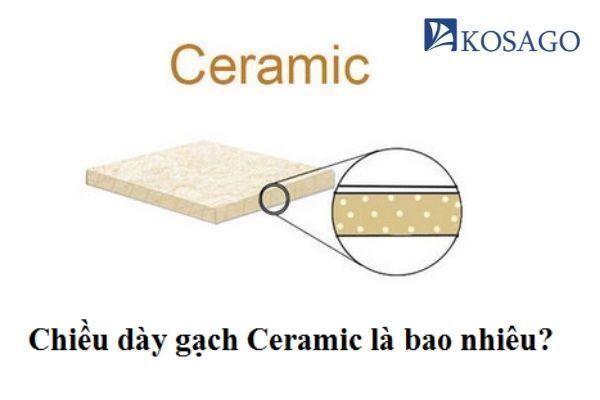Chiều dày gạch Ceramic