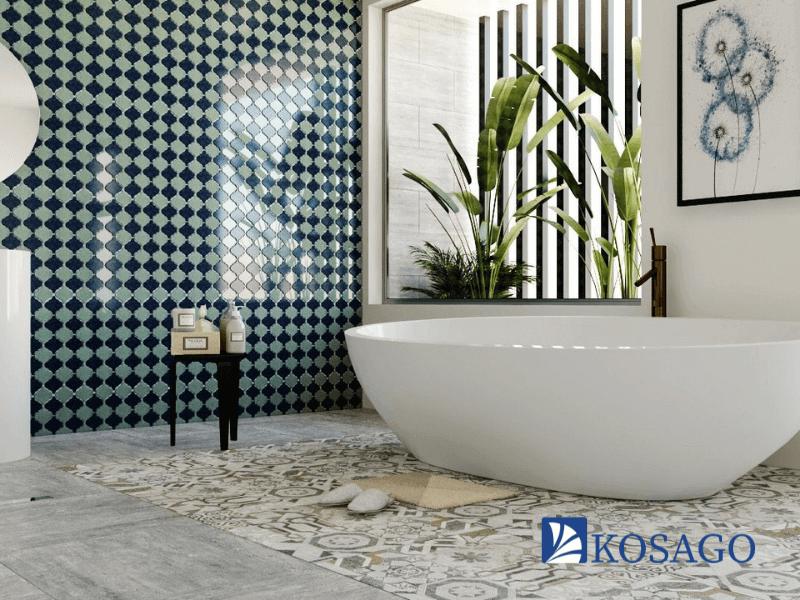 Chọn gạch mosaic ốp phòng tắm cần lưu ý điều gì