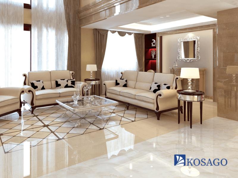 Gạch lát nền phòng khách với kích thước 80x80 đa dạng mẫu mã
