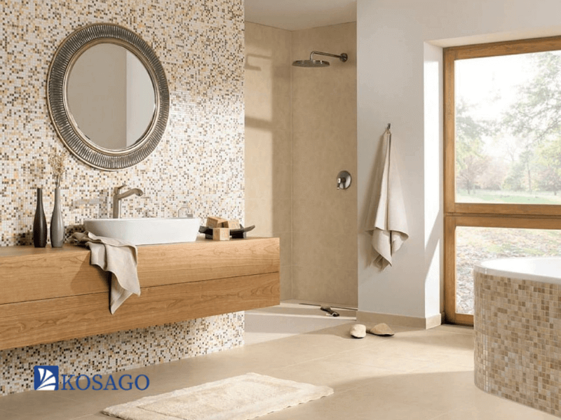 Gạch mosaic ốp phòng tắm nổi bật và sang trọng nhất 2021